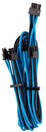 Corsair Premium Individually Sleeved PCIe Cables with Dual Connector Type 4 (Gen 4) Blue/Black