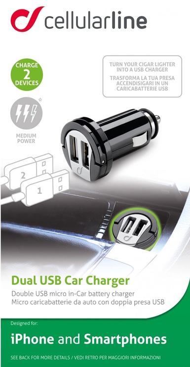 Cellular Line Dual USB Car Charger Black
