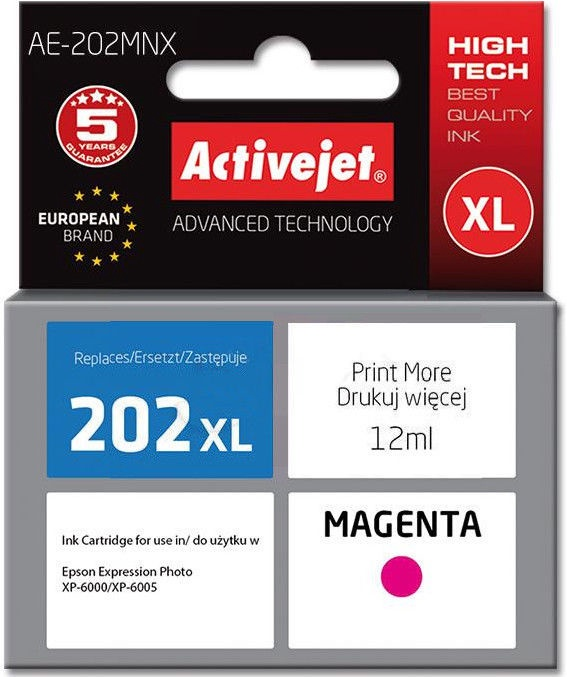ActiveJet AE-202 replacement for Epson 202XL H34010 Magneta