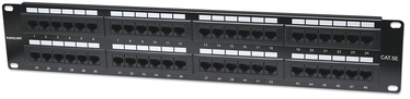 Intellinet Patch Panel 19'' UTP CAT 5e RJ45 x 48 2U Black