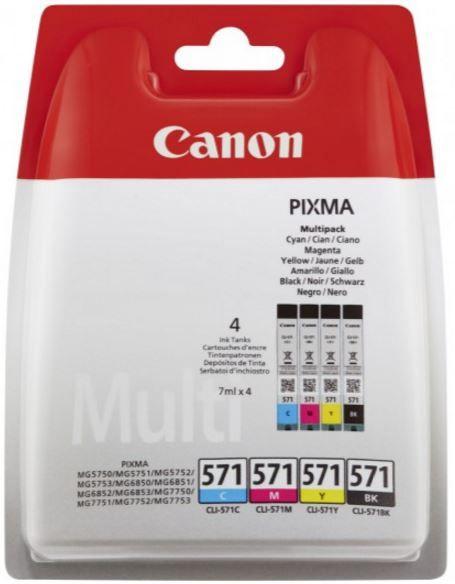 Canon CLI-571 Cartridge Multipack Black Cyan Magenta Yellow