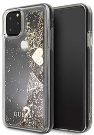 Guess Glitter Hearts Back Case For Apple iPhone 11 Pro Max Gold