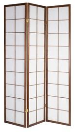 Home4you Oriental Folding Screen w/ 3 Panels Walnut