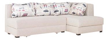 Stūra dīvāns Bodzio Judyta Noble Latte/London 1, labais, 225 x 155 x 77 cm