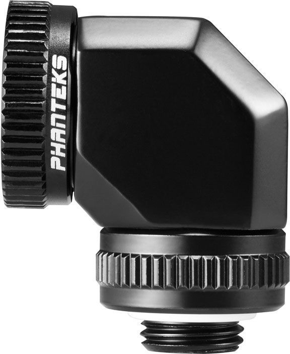 Phanteks Glacier Rotary Hard Tube Adapter 90 16mm Black