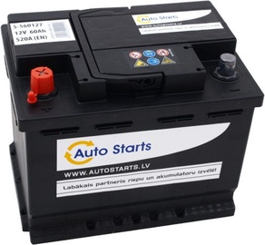 Аккумулятор Auto Starts, 12 В, 60 Ач, 520 а