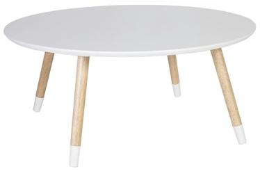 Kafijas galdiņš Home4you Foxy White, 800x800x355 mm