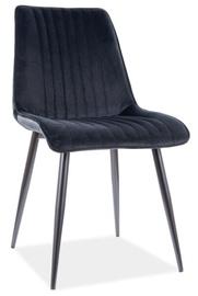 Ēdamistabas krēsls Signal Meble Kim Velvet, melna