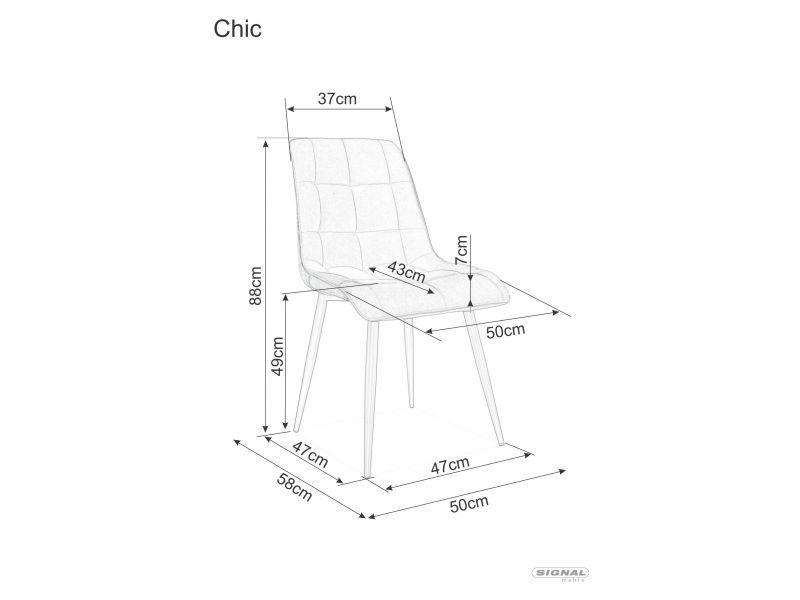 Ēdamistabas krēsls Signal Meble Chic Velvet, pelēka