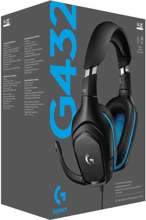 Игровые наушники Logitech G432 Black