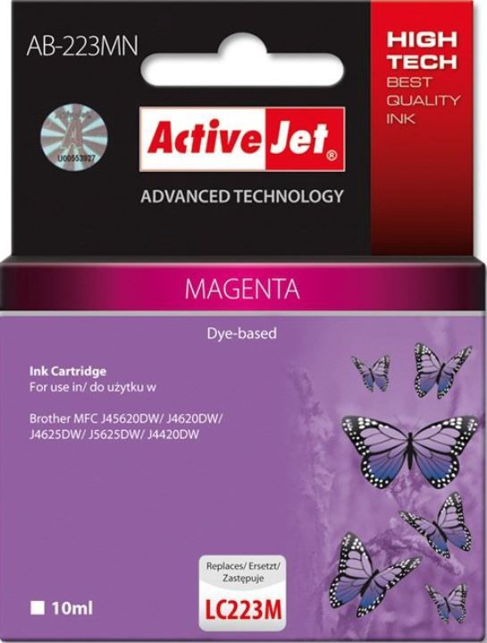 ActiveJet Cartridge AB-223MN For Brother 10ml Magenta