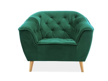 Atzveltnes krēsls Signal Meble Galaxy Galaxy 1 Velvet Green, 105x90x83 cm