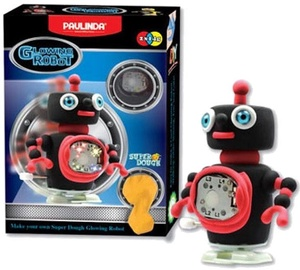 Paulinda Super Dough Moving Glowing Robot Black 081484-1