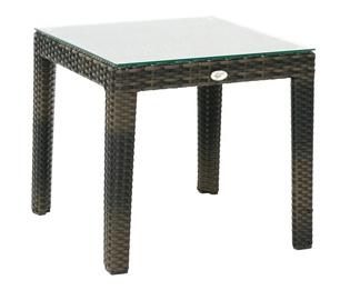Dārza galds Home4you Wicker 11809, brūna, 53 x 54 x 48 cm
