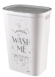 Ящик для белья Curver Infinity Laundry Basket 59l White With Inscription