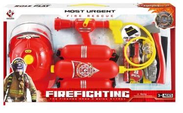 Комплект пожарного со шлемом и огнетушителем