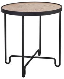 Kafijas galdiņš Home4you Elton Black/Oak, 450x450x500 mm