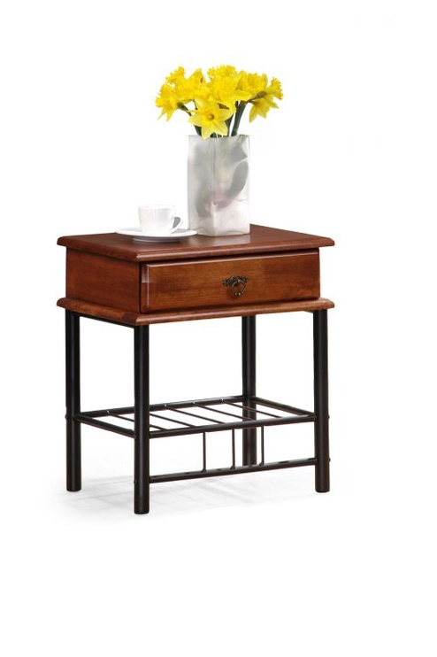 Ночной столик Halmar Fiona Cherry Tree/Black