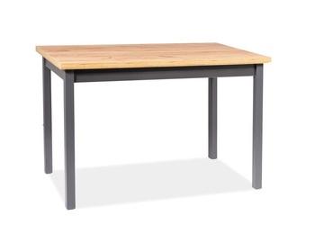Обеденный стол Signal Meble Scandinavian Adam, дубовый/антрацитовый, 1200x680x750мм