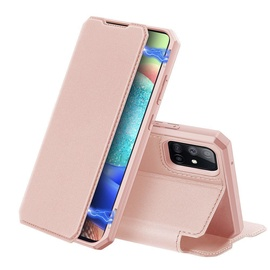 Dux Ducis Skin X Bookcase For Samsung Galaxy A71 5G Pink