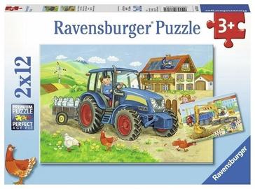 Ravensburger Puzzle Hard at Work 2x12pcs 07616