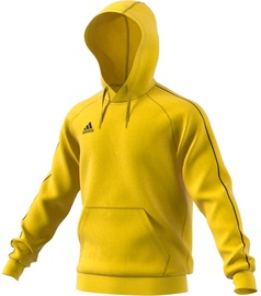 Adidas Mens Core 18 Hoodie FS1896 Yellow XL