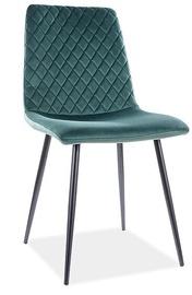 Ēdamistabas krēsls Signal Meble Modern Irys Velvet, zaļa