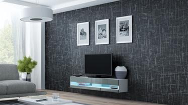 ТВ стол Cama Meble Vigo New 140, белый/серый, 1400x300x1400 мм