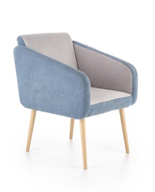 Atzveltnes krēsls Halmar Well Blue/Grey, 70x62x88 cm