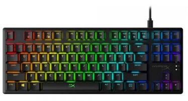 Клавиатура Kingston HX-KB7BLX-US Razer HyperX EN, черный (поврежденная упаковка)