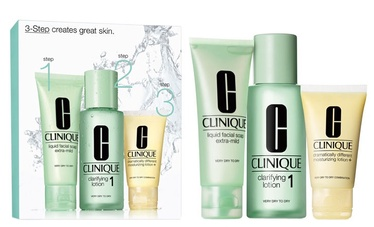Clinique 50ml Liquid Facial Soap Extra Mild + 100ml Clarifying Lotion 1 + 30ml Moisturizing Lotion