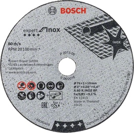 Griezējdisks metālam Bosch, 76x10x1, 5gab.