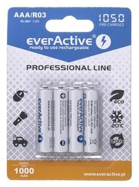 Аккумуляторные батарейки EverActive Professional Line Rechargeable Batteries R03 AAA 1050mAh