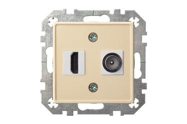 Розетка Liregus Epsilon Telecommunication Socket HDMI+TV-002-01 Beige