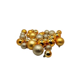 Ziemassvētku eglītes rotaļlieta Christmas Touch N4/LX30BALL Gold, 30 gab.