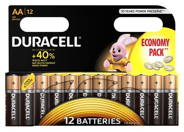 Duracell Alkaline Power Batteries AA B12 12pcs