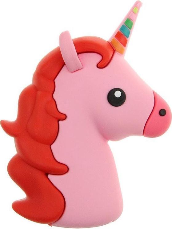 Внешний аккумулятор Mocco Emoji Pink Unicorn, 2600 мАч