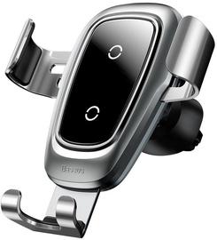 Telefona turētājs Baseus Metal Gravity Wireless Charger Silver