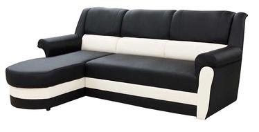 Stūra dīvāns Idzczak Meble Bruno Black/White, kreisais, 240 x 170 x 97 cm