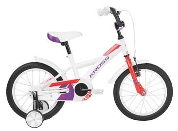 """Bērnu velosipēds Kross Mini 3.0 16"""" White Red Violet Glossy 19"""