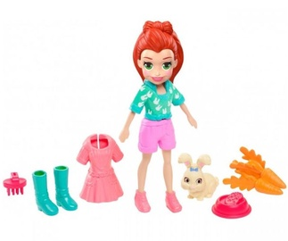 Rotaļlietu figūriņa Mattel Polly Pocket Hoptastic Lila With Pet GDM11
