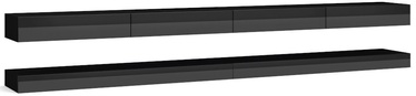 ТВ стол Vivaldi Meble, черный, 2800x340x450 мм