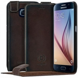 Bugatti Amsterd Vertical Book Cover For Samsung Galaxy S6 Brown