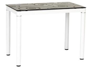 Pusdienu galds Signal Meble Modern Damar, balta/melna, 1000x600x750mm