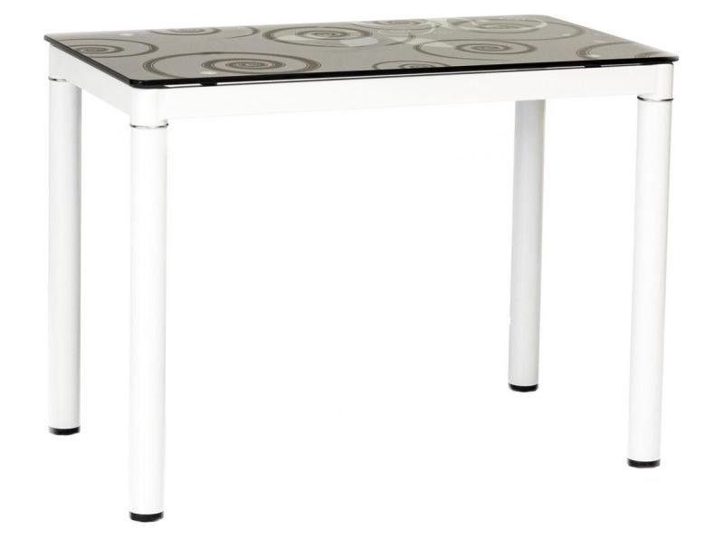 Pusdienu galds Signal Meble Damar Black & White, 1000x600x750 mm
