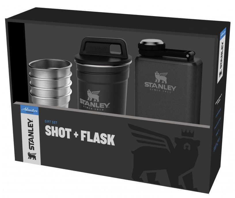 Stanley Adventure Gift Set 4pcs Shot 50ml + Flask 0.23l Matt Black