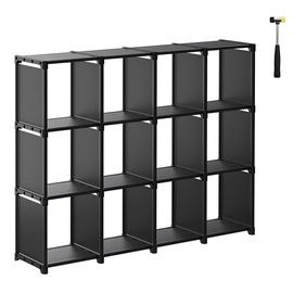 Полка Songmics, черный, 105x30x140 см
