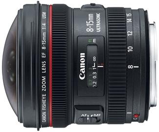 Objektīvs Canon EF 8-15mm F4.0 L Fisheye USM, 540 g
