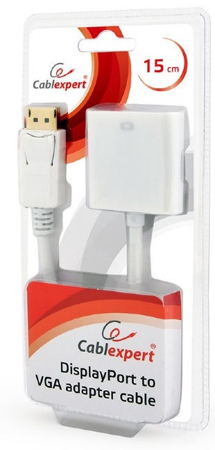 Gembird DisplayPort to VGA Adapter White