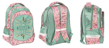 Рюкзак Paso Minnie Mouse w/ Pencil Case & Wallet & Shoe Bag Green/Pink